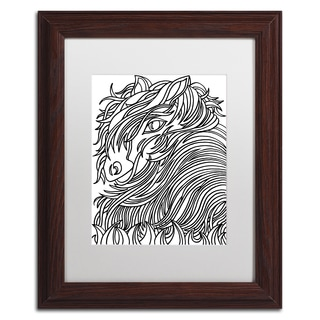Kathy G. Ahrens 'Harrington the Horse' Matted Framed Art