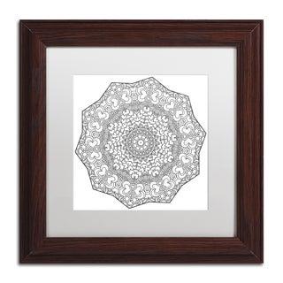 Kathy G. Ahrens 'Grinder Mandala' Matted Framed Art