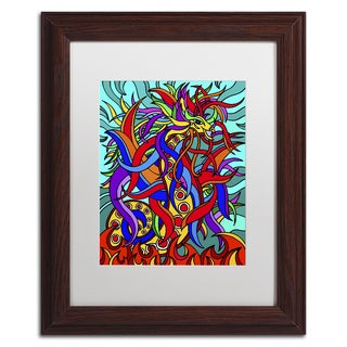 Kathy G. Ahrens 'Devon the Dragon Alive' Matted Framed Art