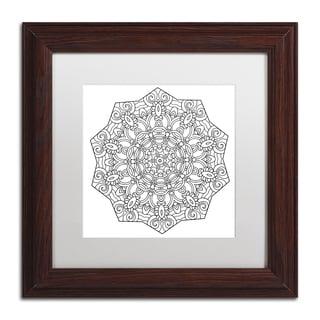 Kathy G. Ahrens 'Curl Mandala' Matted Framed Art