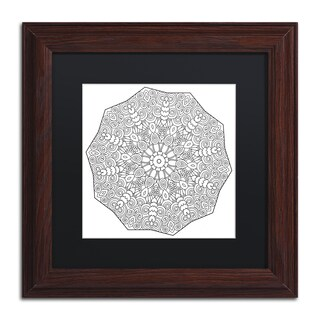 Kathy G. Ahrens 'Rolly Mandala' Matted Framed Art