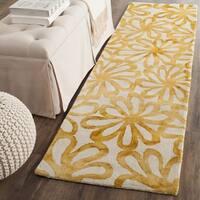 Safavieh Dip Dye Vintage Handmade Beige/ Gold Wool Runner (2' 3 x 12')