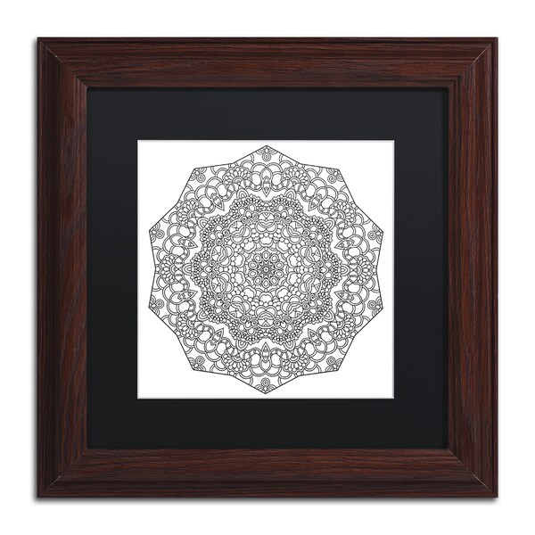 Kathy G. Ahrens 'Lover Mandala' Matted Framed Art