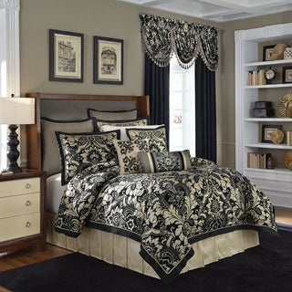 Croscill Napoleon  Chenille Jacquard Woven Damask 4 Piece Comforter Set