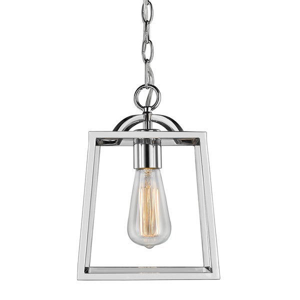 Golden Lighting 'Athena' Chrome-finish Steel Mini Pendant