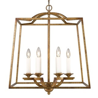 Golden Lighting Athena Grecian Gold and Glass 6-light Incandescent Pendant