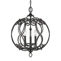 Golden Lighting Selene Aged Bronze Steel 3-light Pendant