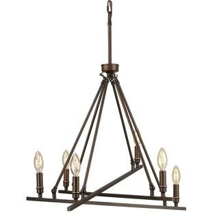 Golden Lighting Garvin Rubbed Bronze 6-light Chandelier
