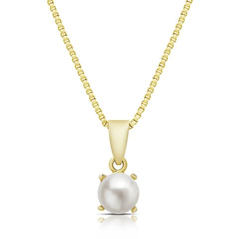 Dolce Giavonna Gold Overlay Gemstone Birthstone Necklace