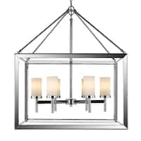 Golden Lighting Smyth Chrome-finished Steel 6-light Chandelier With Opal Glass Shades