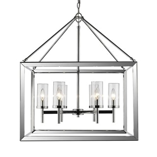 Golden Lighting Smyth Chrome With Clear Glass 6-light Chandelier