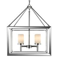 Golden Lighting Smyth Chrome Opal Glass 4-light Chandelier