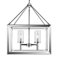 Golden Lighting Smyth Chrome Steel clear Glass 4-light Chandelier