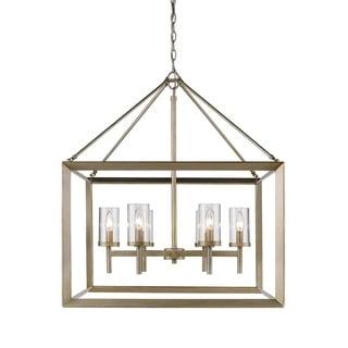 Golden Lighting Smyth Goltone Steel/Glass 6-light Chandelier