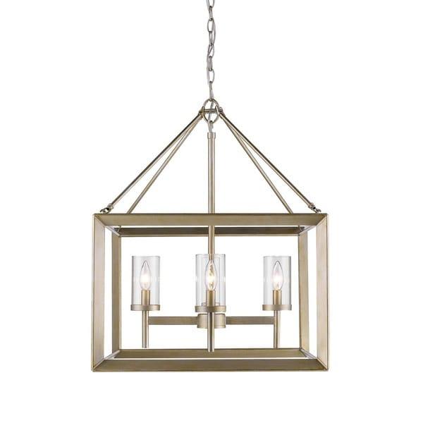 golden lighting chandelier. Golden Lighting Smyth White Gold 4 Light Chandelier With Clear Glass