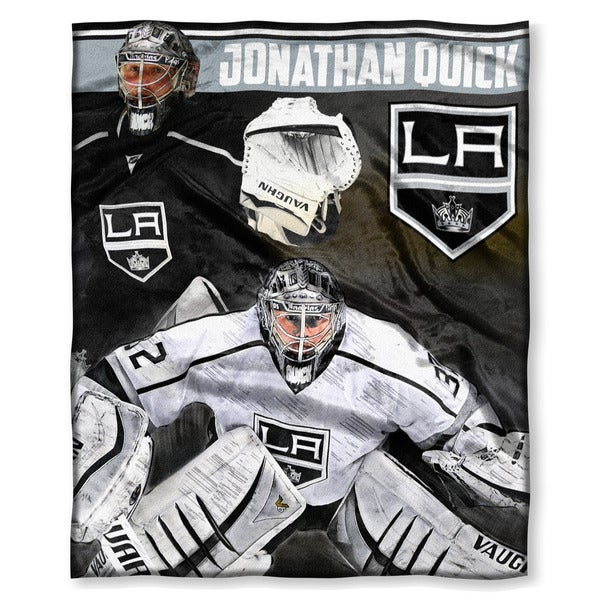 NHL 575 LA Kings Johnathan Quick Silk Touch Throw