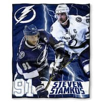 The Northwest Company NHL 575 Lightning Steven Stamkos Silk Touch Throw