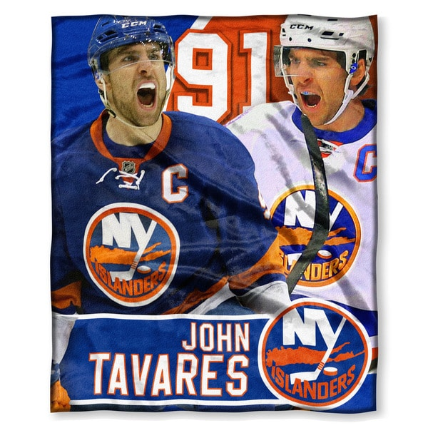 The Northwest Co NHL 575 Islanders John Tavares Multicolor Silk-touch Polyester Throw