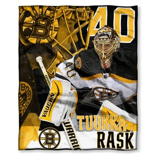 The Northwest Company NHL Bruins Tuuka Rask Multicolor Polyester Silk-touch Throw