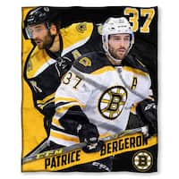 The Northwest Co NHL 575 Bruins Patrice Bergeron Polyester Silk Touch Throw