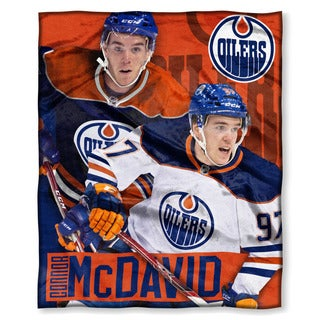 The Northwest Company NHL Oilers Connor McDavid Multicolor Polyester Silk-touch Throw