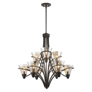 golden lighting chandelier. Golden Lighting Olympia Burnt Sienna Metal/Amber Glass 2-tier 9-light Chandelier L