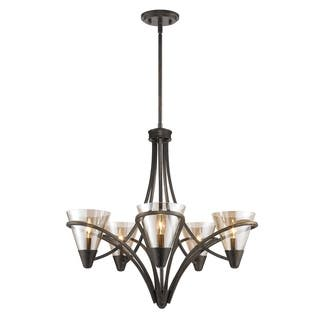 Golden Lighting Olympia Burnt Sienna Steel and Baltic Amber Glass 5-light Chandelier|https://ak1.ostkcdn.com/images/products/13307382/P20014683.jpg?impolicy=medium