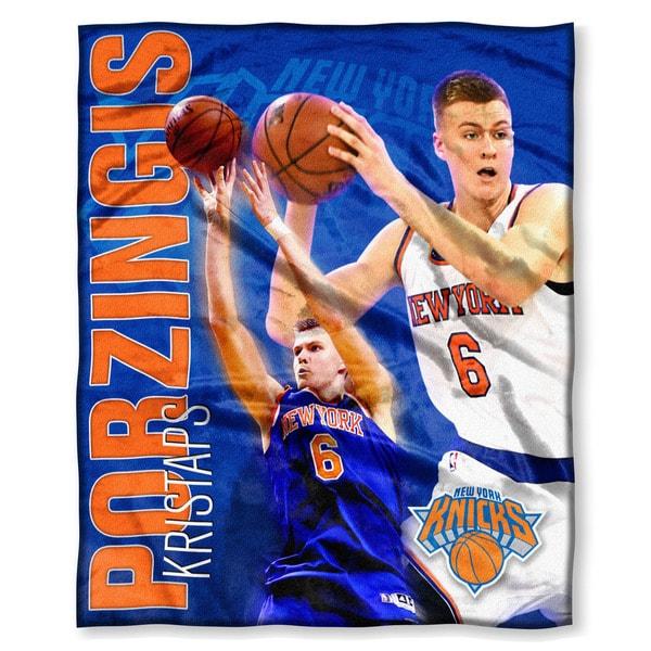 The Northwest Co NBA 575 Knicks Kristaps Porzingis Multicolor Silk-touch Polyester Throw
