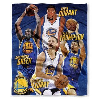 The Northwest Co NBA 575 Warriors Durant, Curry,Green, Thompson Multicolor Silk-touch Polyester Throw