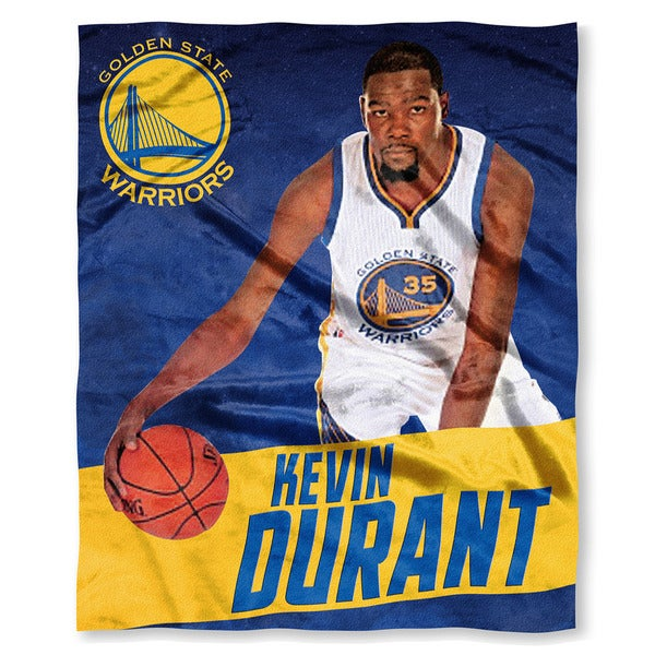 The Northwest NBA 575 Warriors Kevin Durant Multicolor Silk-touch Polyester Throw
