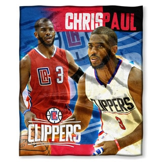 The Northwest Co NBA 575 Clippers Chris Paul Multicolor Silk-touch Polyester Throw