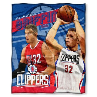 The Northwest Company NBA Clippers Blake Griffin Multicolored Polyester Silk-like Throw