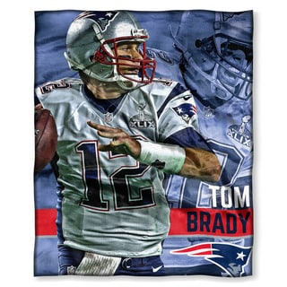 The Northwest Co NFL 575 Patriots Tom Brady Multicolor Polyester Silk-touch Throw