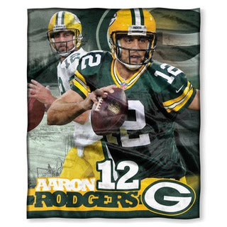 The Northwest Co NFL 575 Packers Aaron Rodgers Silk Touch Polyester Throw Blanket