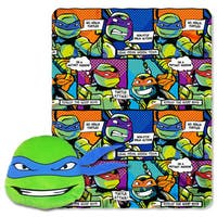 The Northwest Company ENT 154 TMNT Good Guys Leo Pillow and Throw Set