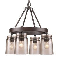 Golden Lighting Travers Rubbed Bronze Steel 4-light Chandelier
