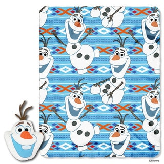 The Northwest Company ENT 154 Frozen Big Face Olaf Throw and Pillow Set