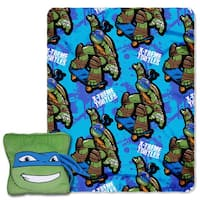The Northwest Company TMNT - Leo Maxin' Multicolor Polyester Throw and Pillow Set