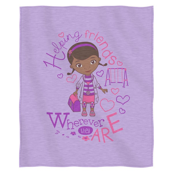 The Northwest Co ENT 099 Doc McStuffins 'Doc Love' Multicolor Cotton and Polyester Sweatshirt Throw