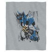 The Northwest Co ENT 099 Batman 'Bat Jump' Multicolor Cotton and Polyester Sweatshirt Throw