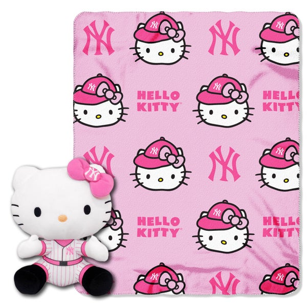 The Northwest Company COK 027 New York Yankees Hello Kitty with Throw