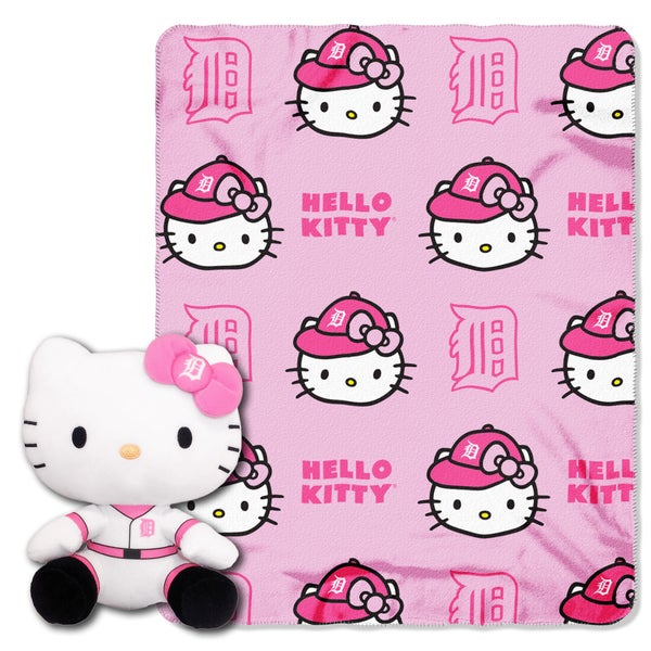 The Northwest COK 027 Tigers Hello Kitty Multicolor Polyester Doll with Throw