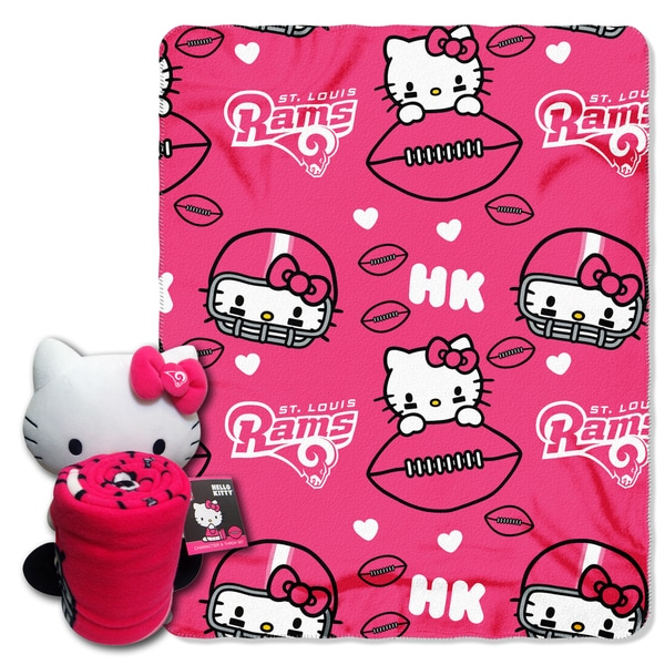 The Northwest Company COK 027 Rams Hello Kitty with Throw