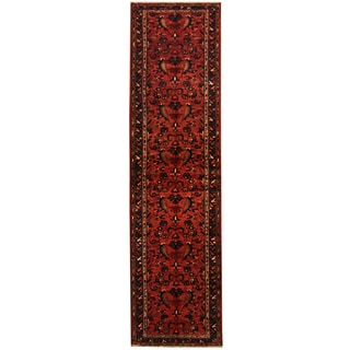 Herat Oriental Persian Hand-knotted Tribal Hamadan Wool Runner (3'6 x 12'11)