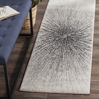 Safavieh Evoke Vintage Abstract Burst Black/ Ivory Distressed Runner (2' 2 x 11')