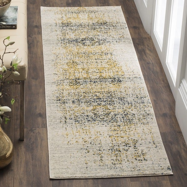 Safavieh Evoke Vintage Distressed Ivory / Blue Distressed Runner (2'2 x 9')