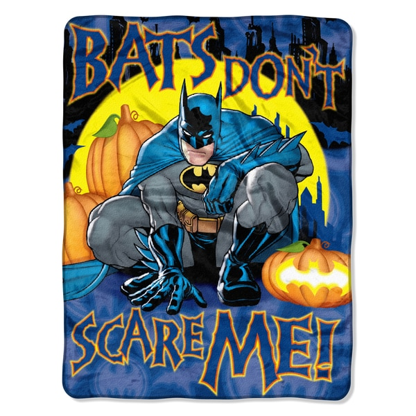 ENT 659 Not Scary Polyester Batman Throw