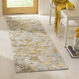 Safavieh Evoke Vintage Floral Grey / Gold Distressed Runner Rug