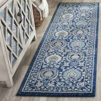 Safavieh Evoke Vintage Blue/ Ivory Distressed Runner (2' 2 x 11')