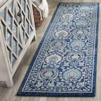 Safavieh Evoke Vintage Blue/ Ivory Distressed Runner Rug - 2' 2 x 9'